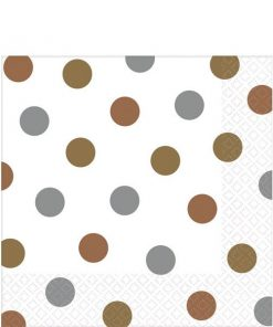 Metallic Polka Dot Party Paper Napkins