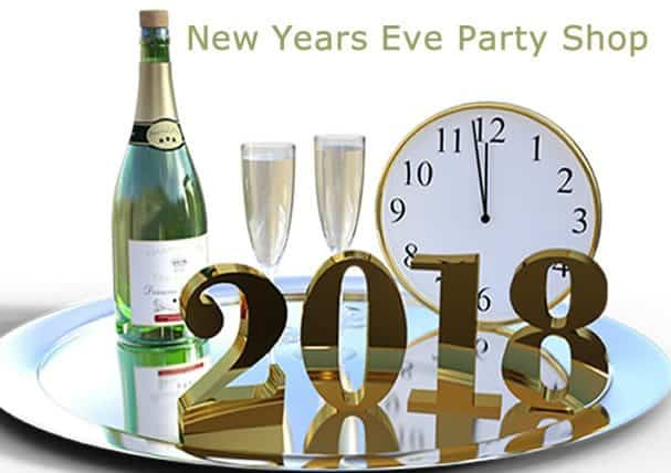 New Years Eve 2018 Party Poppers, Decorations & Novelties