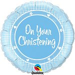 On Your Christening Baby Boy Foil Balloon