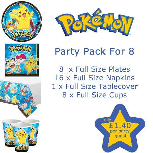 Pokemon Party Pack For 8