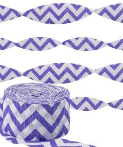 Purple Chevron Party Crepe Streamer