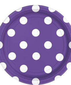 Purple Polka Dot Party Paper Plates
