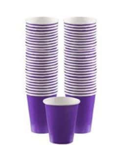 Purple Party Paper Coffee Cups