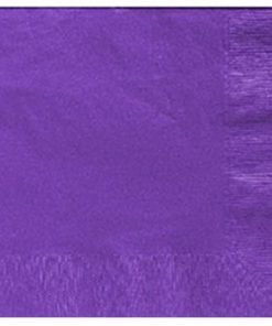 Purple Party Paper Dinner Napkins