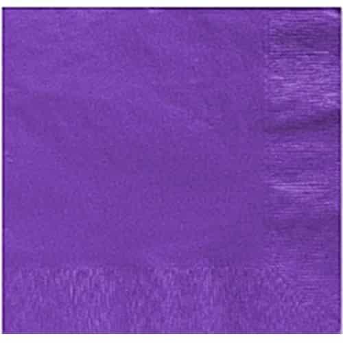 Purple Party Paper Dinner Napkins