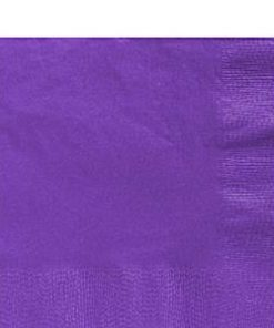Purple Party Paper Lunch Napkins