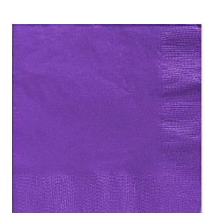 Purple Party Paper Lunch Napkins