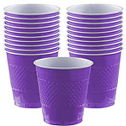 Purple Party Plastic Cups