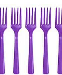 Purple Party Plastic Forks