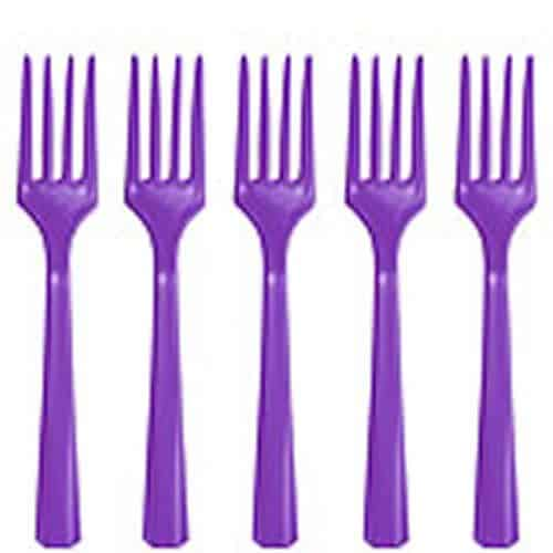 Purple Party Plastic Forks