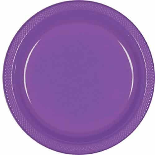 Purple Party Plastic Serving Plates