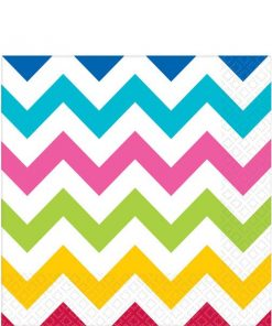 Rainbow Chevron Party Paper Napkins