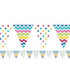 Rainbow Polka Dot & Chevron Party Bunting