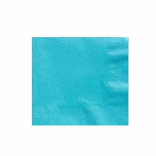 Turquoise Party Paper Beverage Napkins
