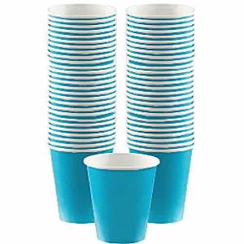 Turquoise Party Paper Coffee Cups