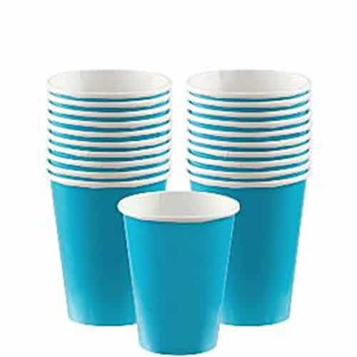 Turquoise Party Paper Cups