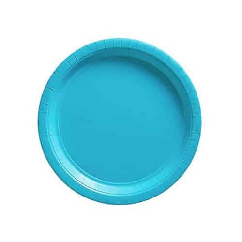 Turquoise Party Paper Dessert Plates