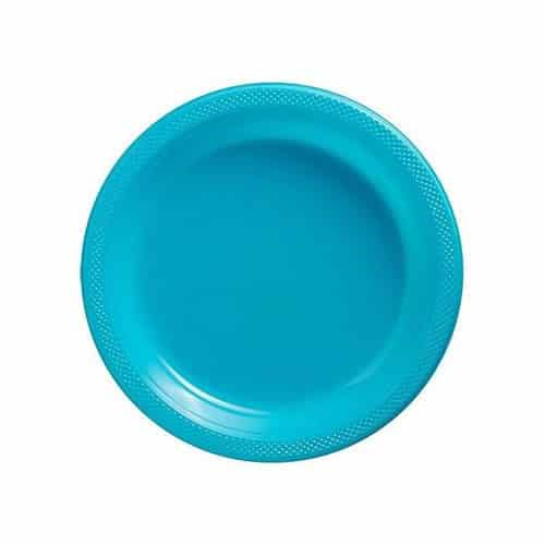 Turquoise Party Plastic Dessert Plates