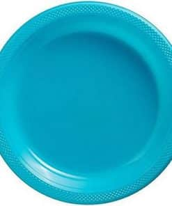 Turquoise Party Plastic Serving Plates
