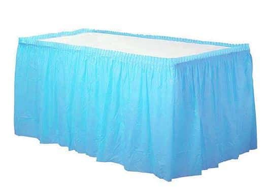 Turquoise Party Plastic Tableskirt
