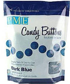Dark Blue Vanilla Candy Buttons