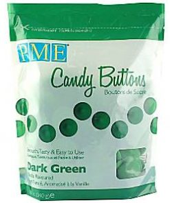 Dark Green Vanilla Candy Buttons