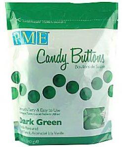 Dark Green Vanilla Candy Buttons