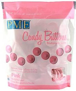 Pink Vanilla Candy Buttons