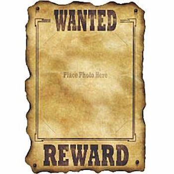 Wild West Party Western Wanted Sign