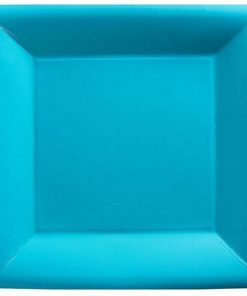 Turquoise Party Square Paper Plates