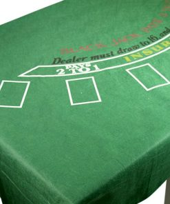 Casino Blackjack Felt Tablecover