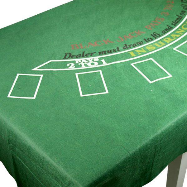 Casino Blackjack Felt Tablecover