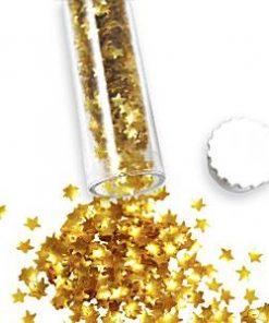 Gold Glitter Sugar Stars