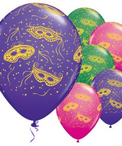 Mardi Gras Party Printed Latex Balloons