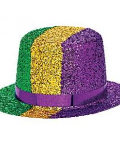 Mardi Gras Party Mini Glitter Hat