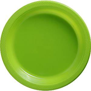 Lime Green Plastic Serving Plates