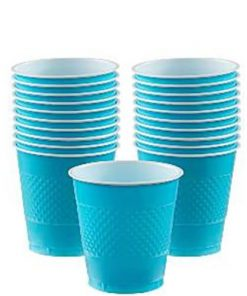 Turquoise Party plastic 266ml