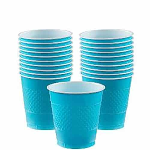 Turquoise Party plastic 266ml