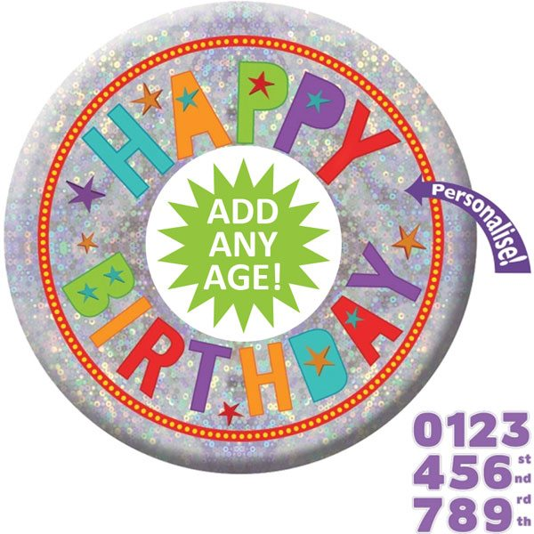 Add Any Age Holographic Badge