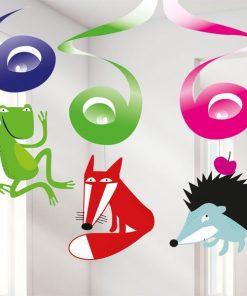 Animal Party Hanging Swirls