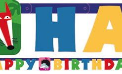 Animal Party Happy Birthday Letter Banner