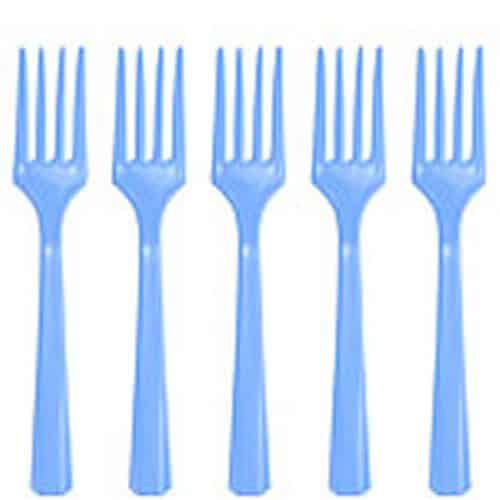Baby Blue Party Plastic Forks