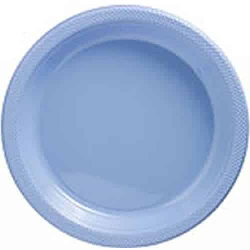 Baby Blue Party Plastic Serving Plates