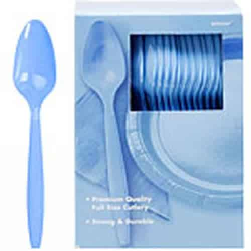 Baby Blue Party Plastic Spoons