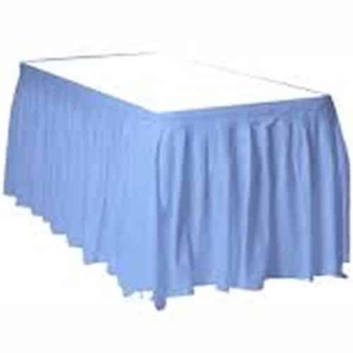 Baby Blue Party Plastic Tableskirt