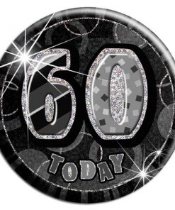 Black '60 Today' Big Birthday Badge