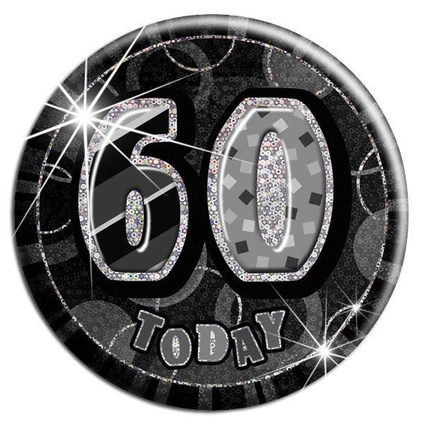 Black '60 Today' Big Birthday Badge