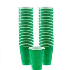 Green Plastic Party Cups
