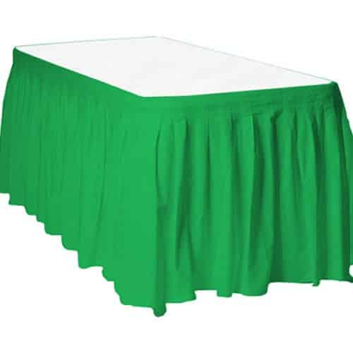 Buy Cheap Green Plastic Tableskirt Fun Party Supplies