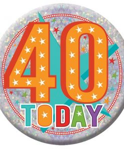 Happy 40th Birthday Badge